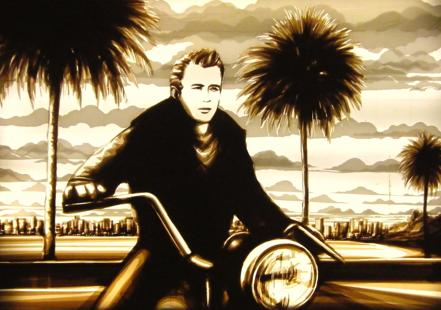 max zorn tape art James dean