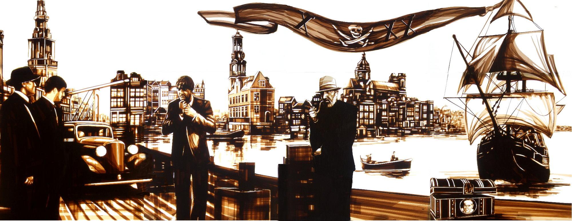 Max zorn, de dampkring, Amsterdam tape art