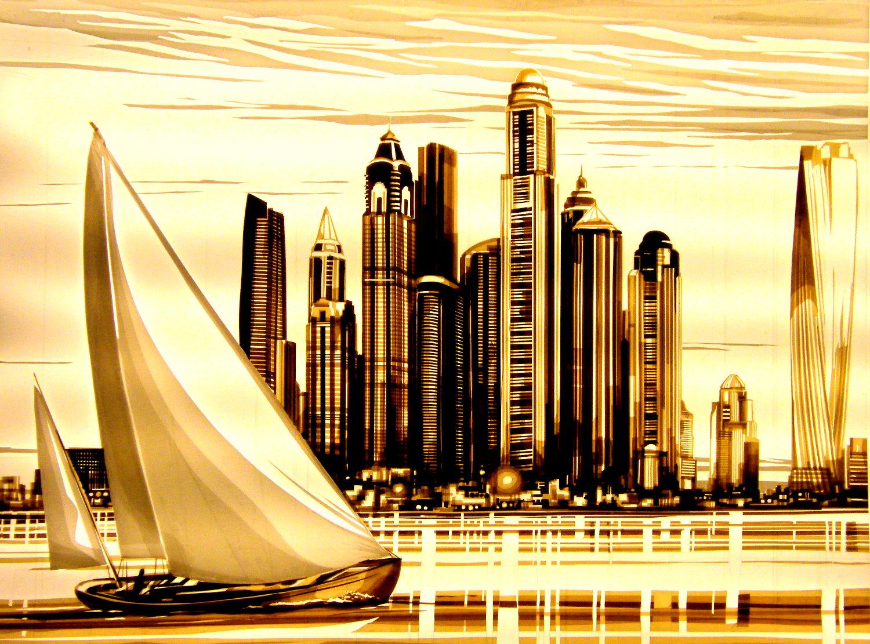 tape art, Dubai, max zorn