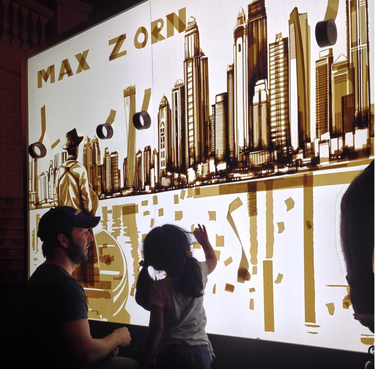 Max Zorn, tape art, Dubai, art in Dubai, tape art, UAE art