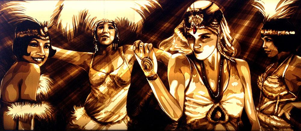 Urban artist Max Zorn, Tape art, Red Bull Munich